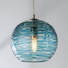 Globe Ceiling Light Swirling Glass Globe Pendant Light Shades Of Light