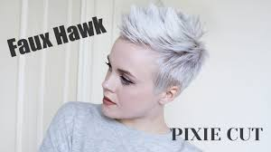 hair products for pixie cut pixie cut faux hawk tutorial easy drugstore products youtube