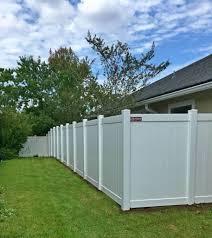 white vinyl fence jacksonville featured installation north