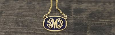 Monogram Necklaces Monogram Necklaces Monogrammed Jewelry Personalized Jewelry