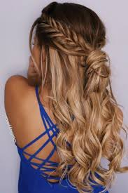 different hairstyles with extensions hair highlights color trends fishtail braid half up hairstyle