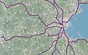 Boston Mbta Map A Region Divided U2014 North South Rail Link