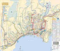 Route Map by Lignes D U0027azur Tram Shuttle And Bus Route Maps