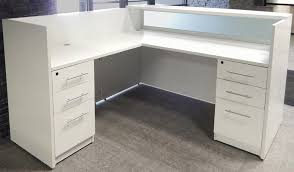 White Reception Desk Nice L Shaped Salon Reception Desk White With Regard To Elegant