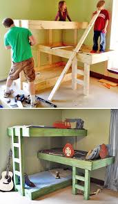 Make Cheap Loft Bed by Best 25 Small Bunk Beds Ideas On Pinterest Cabin Beds For Boys
