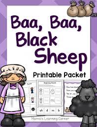 baa baa black sheep nursery rhyme packet mamas learning corner