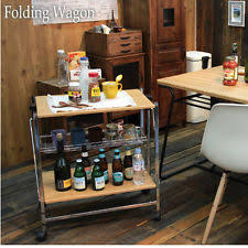 folding kitchen cart ebay