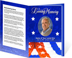 Template For A Funeral Program New Funeral Program Customization Services Create Lasting