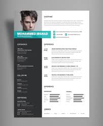 free modern resume templates psd gallery of free modern resume cv design template psd file good