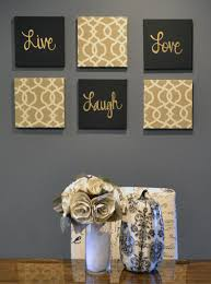 live laugh love wall art pack of 6 canvas wall hangings painting