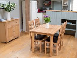 minsk 4 seater solid oak kitchen table chair set from top furniture