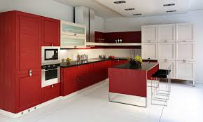 Red Kitchens With White Cabinets Incredible Red And White Kitchen Cabinets Pictures Of Kitchens