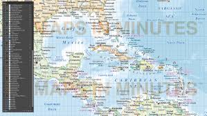 Las Americas Map by Digital Vector South America Political Map With Sea Contours