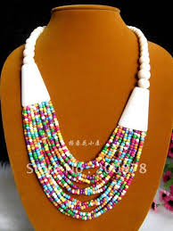 beaded necklace photos images Tnl363 tibetan necklace yak beaded rainbow necklace multi strands jpg