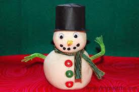 salt dough snowman craft crafts firstpalette