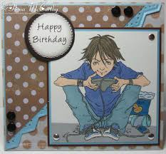 handmade by fiona mccarthy another male birthday card