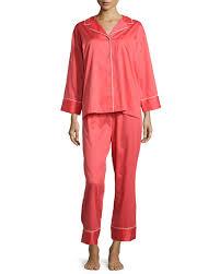 natori cotton sateen pajama set opera blue womens prod132420082