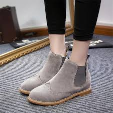 womens boots for flat designers brand ankle boots flat heels shoes suede