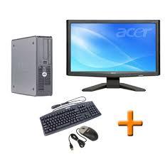 ordinateur complet de bureau dell optiplex gx620 ecran tft 22 ordinateur bureau complet