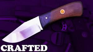 knife making razor sharp hunting knife youtube