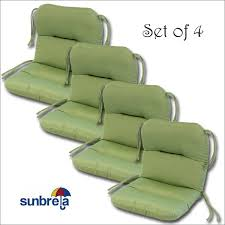 Crate And Barrel Patio Cushions by Set Of 4 Outdoor Chair Cushions 20 X 36 X 3 H 19 In Sunbrella