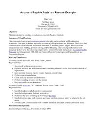 general objective in resume accounts payable resume examples free resume example and writing accounts payable resume help pertaining to accounts payable resume objective 3026