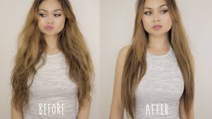 less damaging hair colors straighten hair fast with no flat iron less damage youtube