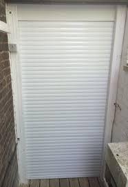 metallic line rehau kitchen roller shutters for appliance cupboard