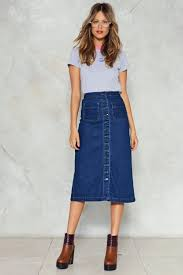 midi skirt get to it denim midi skirt shop clothes at gal