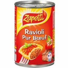 boeuf cuisiné plat cuisiné ravioli pur bœuf zapetti
