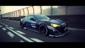 subaru brz custom wallpaper subaru brz with rocket bunny aero kit xcar youtube