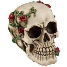 large skull ornament with creeping vine by nemisis