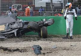 alonso walks away from horror crash in australia u2014 naharnet