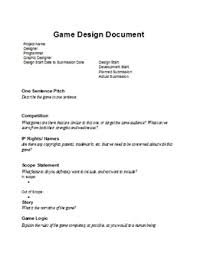 game design template game design document template scrapheap challenge com