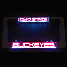 ohio state neon light lumisign license plate frame with ohio state buckeyes inserts