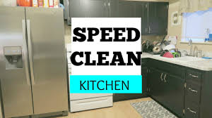 speed clean kitchen cleaning routine youtube