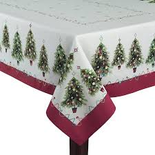Christmas Table Cloths by Christmas Trees Fabric Tablecloths Christmas Wikii