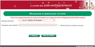 declaration auto entrepreneur chambre des metiers comment modifier mon activité d auto entrepreneur auto