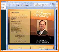 funeral program template microsoft free funeral program template