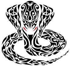 tribal cobra snake vector 123freevectors