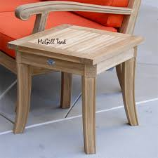Teak Wood Patio Furniture Outdoor Garden End Table Royal Patio Side Table