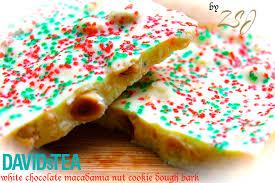 zain u0027s white chocolate macadamia cookie dough christmas bark