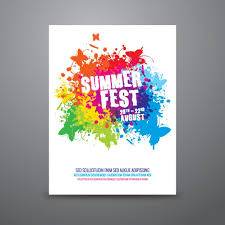 plakat design summer festival poster template vector free