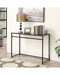 convenience concepts console table deal alert convenience concepts black glass top console table 131099