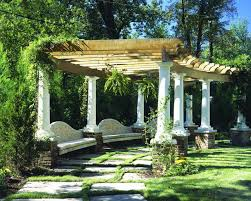 Exterior  Fascinating Backyard Pergola Design With Traditional - Backyard arbor design ideas