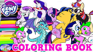 my little pony coloring book twilight sparkle rarity compilation