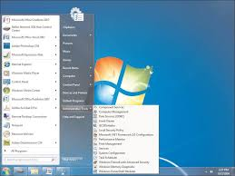 windows 7 administrative tools creating shortcuts