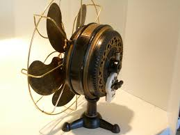 Antique Desk Fan by Early Electric Fans Dating Early Emerson 60 Cycle And Dc Current