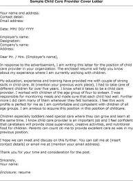 Cover Letter Enclosure Resume Child Caregiver Cover Letter