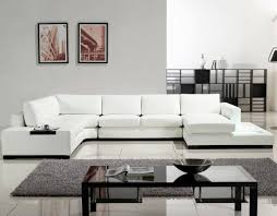 living room sectional couch with sleeper modern leather